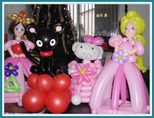 balloon art San Antonio, Almapaints, center peices