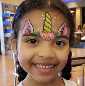 face painting, San Antonio, rainbow heart face painting, body art, Almapaints