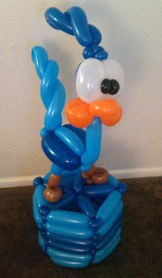 road runner balloon art, balloon decor, balloon twisting, Almapaints, the best balloon decorations in San Antonio