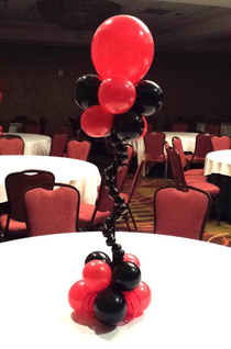 balloon centerpiece, balloon art, balloon decor, Almapaints, Verison