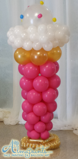 balloon decor San Antonio, balloon column, balloon art, The best balloon decor in San Antonio, balloon ice cream