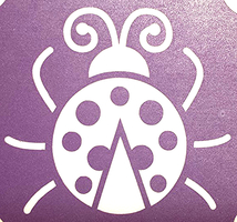 San Antonio, Almapaints, glitter tattoos, lady bug glitter tattoo, tattoo, water proff glitter tatoo