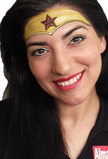 woner women face painting, Almapaints, face painting San Antonio
