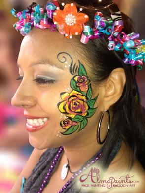 Fiesta face painting in SA by Almapaints