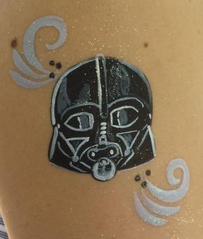 face painting, San Antonio, Darth Vador face painting, the best face painting in San Antonio, body art, Almapaints