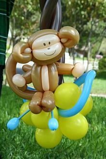balloon art, Balloon art San Antonio, monkey balloon art, Almapaints, the best balloons in San Antonio